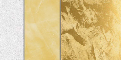 metallic stucco full effect - gold