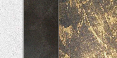 metallic stucco veiled effect - gold on black