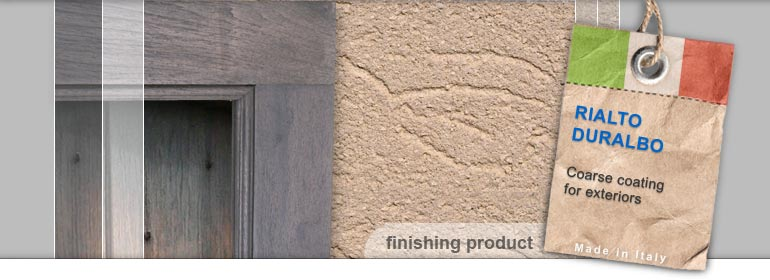 coarse coating for exterior walls