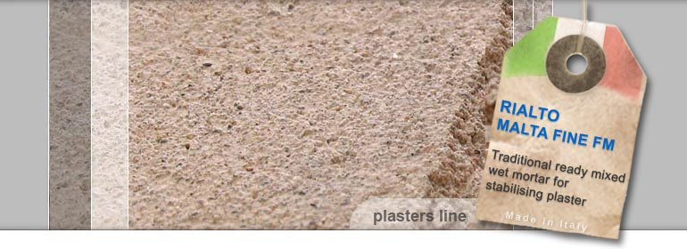 lime based wet mortar for stabilizing plaster